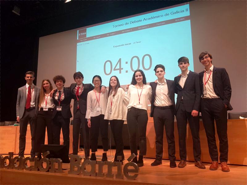 Torneo de Debate Académico de Galicia. Equipo de 2º de Bachillerato.